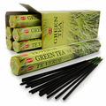 Угольные благовония Hem Incense Sticks GREEN TEA (Благовония зеленый ЧАЙ, Хем), уп. 20 палочек.
