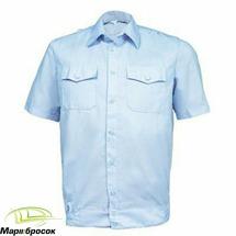 Рубашка Полиции мужская с коротким рукавом (Бледно-голубой, 44, 3)