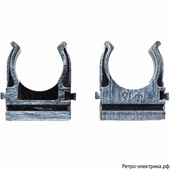 Крепеж-клипса для трубы 16мм (пластм.), серебро, BTK1-16-11