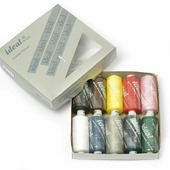 "Набор швейных ниток ""Ideal"", №40, цвет: мультиколор, 366 м, 10 шт"