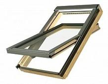 Мансардное окно энергосберегающее Fakro Standart FTS U2, ручка снизу, 780x1400 мм