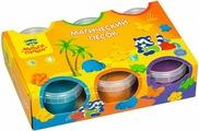 Песок для игры детский Мульти-Пульти Приключения Енота, с 2 формочками, ПН_15815, 6 цветов, 840 г
