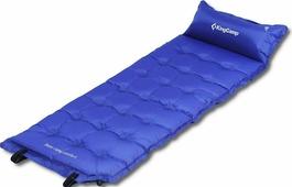 Коврик самонадувающийся KingCamp Base Camp Comfort, KM3560, синий, 196 х 63 х 5 см