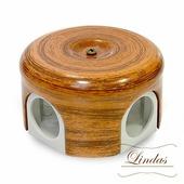 Распределительная коробка d 78mm декор Орех 33026 (Lindas)