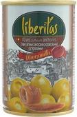 """Овощные консервы Liberitas """"Оливки зеленые"""" с анчоусом, 280 г"""