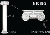 Лепнина Перфект Полуколонна из полиуретана N1018-2