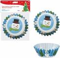 """Набор бумажных форм для конфет Мультидом """"Веселый снеговик"""", диаметр 6 см, 50 шт"""