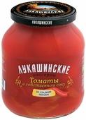 Лукашинские Томаты в собственном соку со сладким перцем, 670 г