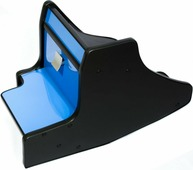 Консоль в авто АвтоБлюз для ГАЗель NEXT, ГР02806, ручка КПП на панели , глянец синий