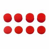 Силиконовые накладки для контроллера DUALSHOCK 4 (PS4) красные, 8 шт