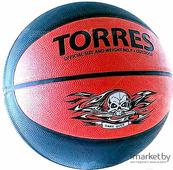 Баскетбольный мяч Torres Game Over р.7 серый/красный [B00117]