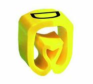 """Маркер закрытого профиля Partex PA-2 на провод 2.5-16.0 мм², символ """"D"""", желтый/черный (пачка 100 шт.) {PA-200..."""