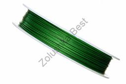 Ювелирный тросик 0,45 мм, зеленый, 70 м
