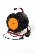 Силовой удлинитель крона КС123050 РС-1 (УР10-1) 50м, на катушке для газонокос. (ПВС 2х0.75)