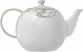 Заварочный чайник, 900 мл, костяной фарфор, Leontina, LEOL50GE306