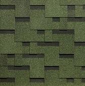 Гибкая битумная черепица Docke Тетрис Standard Зеленый