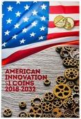 """Капсульный альбом для монет серии «Изобретения Америки», """"Американские инновации"""" (Доллары США, Американские инновации, Альбом под монеты) B010217"""
