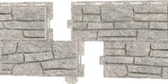 Сайдинг наружный виниловый Ю-пласт Стоунхаус Сланец Светло-серый