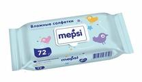 Влажные детские салфетки MEPSI, 72 шт. с клапаном