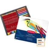 Набор пастели и пастельных карандашей Derwent Pastel Collection 24 цвета в кейсе