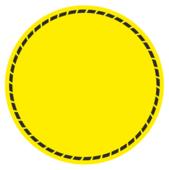 """Наклейка желтый круг """"SignalCircle"""" на стеклянные двери для слабовидящих."""
