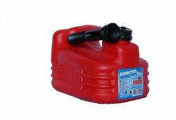 Канистра для ГСМ Мамонт, с заливным устройством 12 мм, красный, 5 л