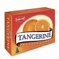 Конусные благовония Hem Incense CONES TANGERINE (Благовония конусы мандарин, Хем), уп. 10 конусов.