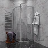 Душевой уголок Gutewetter Guwer GK-664R 100x100 (бронза/стекло матовое)