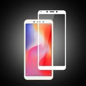 Противоударное защитное стекло на весь экран Full Screen Cover 0.3mm белое Xiaomi Redmi 6A