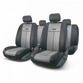 """Авточехлы Autoprofi """"TT"""", цвет: черный, серый, 9 предметов. TT-902J STEEL"""