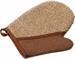 Мочалка Банные штучки, цвет: коричневый, 18 х 21 см