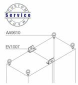 Рым-болты усиленные для сдвоенных шкафов(2шт) ABB, EV1007
