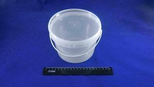 Ведро для шашлыка полипропиленовое на 1,5л с крышкой.6556-15