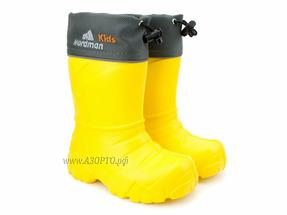 329110-06 Нордман Кидс (Nordman Kids), сапоги резиновые детские eva со съемным меховым вкладышем, желтый