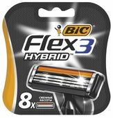 Bic Flex 3 Hybrid Сменные кассеты для бритья, 8 шт