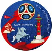 """Магнит сувенирный FIFA 2018 """"Санкт-Петербург"""", 8 х 11 см. СН502"""