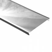 Реечный потолок Албес A25AS Хром эконом 4000*25 мм