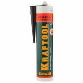 Силикатный герметик KRAFTSIL KRAFTOOL 300 мл, огнеупорный, черный FR150 41260-4