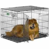 """Клетка для собак Midwest """"iCrate"""", 2 двери, цвет: черный, 76 см х 48 см х 53 см"""