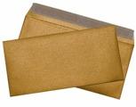 Конверт из дизайнерской бумаги Е65 (110*220) золото металлик. 50 шт