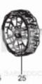 """Колесо заднее 8"""" для ELM4110/ELM4610 (671002013) MAKITA 671002013"""