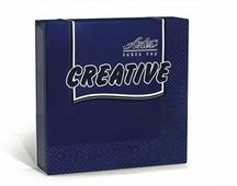 Салфетки бумажные Aster Creative, синий, 3-слойные, 24 х 24 см, 20 шт