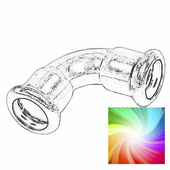 Уголок для труб D22 цветной Loft, RMFC-22S Retrika
