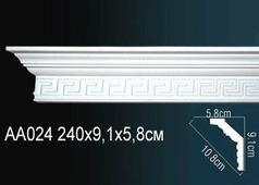 Лепнина Гибкий потолочный плинтус перфект AA024F
