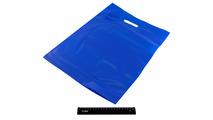 Пакет ПВД синий, с вырубной ручкой 40*50 70мкм, активированный, для шелкографии.5678/090s
