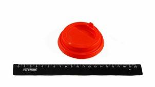 Крышка 80 мм, красная, для горячих напитков.7002/2511-К