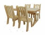Мебель для кукол Альтаир Стол и 4 стула деревянные