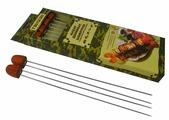 """Шампуры двойные """"Boyscout"""", с деревянной ручкой, 33 см, 4 шт"""