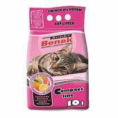 Наполнитель для туалета бентонитовый комкующийся SUPER BENEK Compact цитрусовая свежесть 10 л