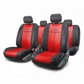 """Авточехлы Autoprofi """"TT"""", цвет: черный, красный, 9 предметов. TT-902P BK/RD"""
